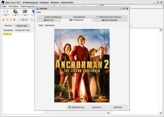 Umfangreich - Neben CD-Archiven lassen sich auch Samlungen zu Filmen, Büchern, Bildern, Kontakten und vielem mehr anlegen.