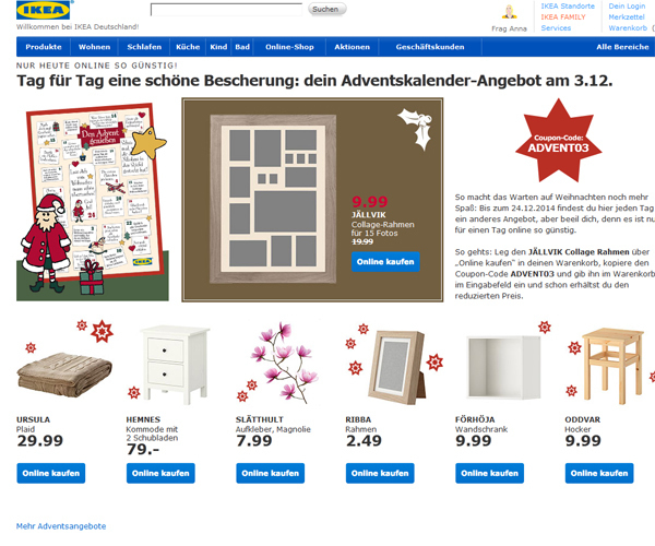 die sch nsten adventskalender im netz com professional. Black Bedroom Furniture Sets. Home Design Ideas