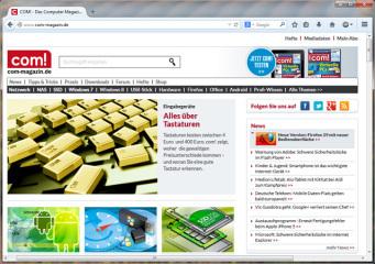 Open-Source-Browser: Firefox ist ein quelloffener Webbrowser, der die Darstellung mehrerer Webseiten innerhalb eines einzelnen Anwendungsfensters unterstützt.