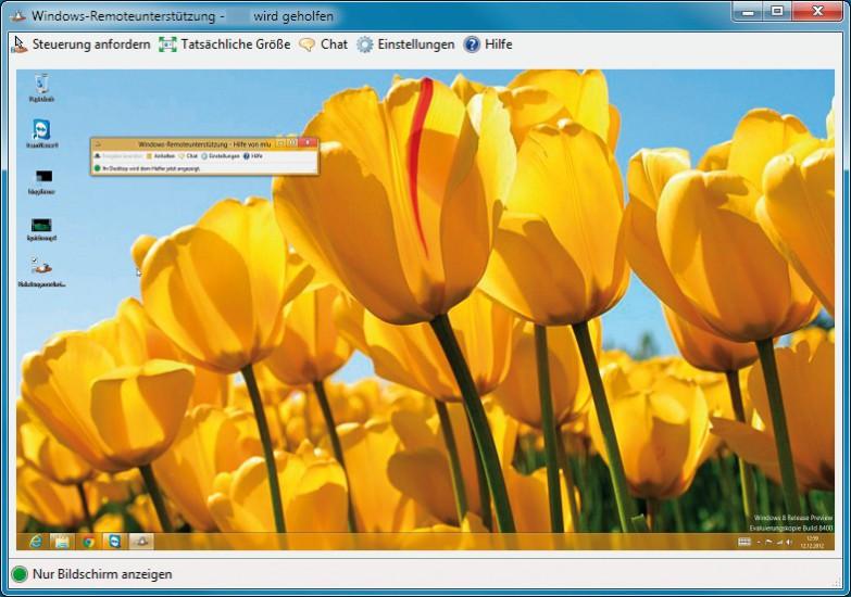 windows-remoteunterstützung - com! professional, Einladung