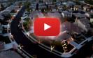 Straßenweite synchronisierte Weihnachtsbeleuchtung