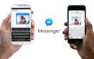Facebook Messenger mit Händen
