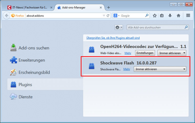 flash player absturz firefox