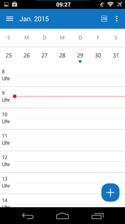 Android Outlook App Kalender