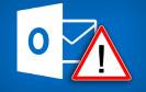 Outllok App Symbol mit Warnung