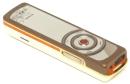 """Nokia 7380: Mit dem Beinamen """"Lipstick Phone"""" wollte Nokia sein 80 Gramm leichtes Modell 7380 im Jahr 2006 an weibliche Käufer bringen. Leider vergaßen die Designer eine logische Bedienung zu integrieren."""
