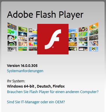 neue flash player version