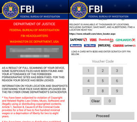 Simplocker FBI Warning