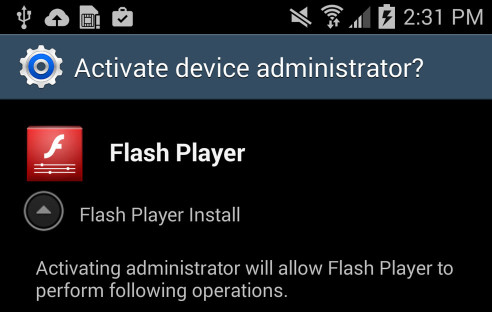 Simplocker Flash Player App