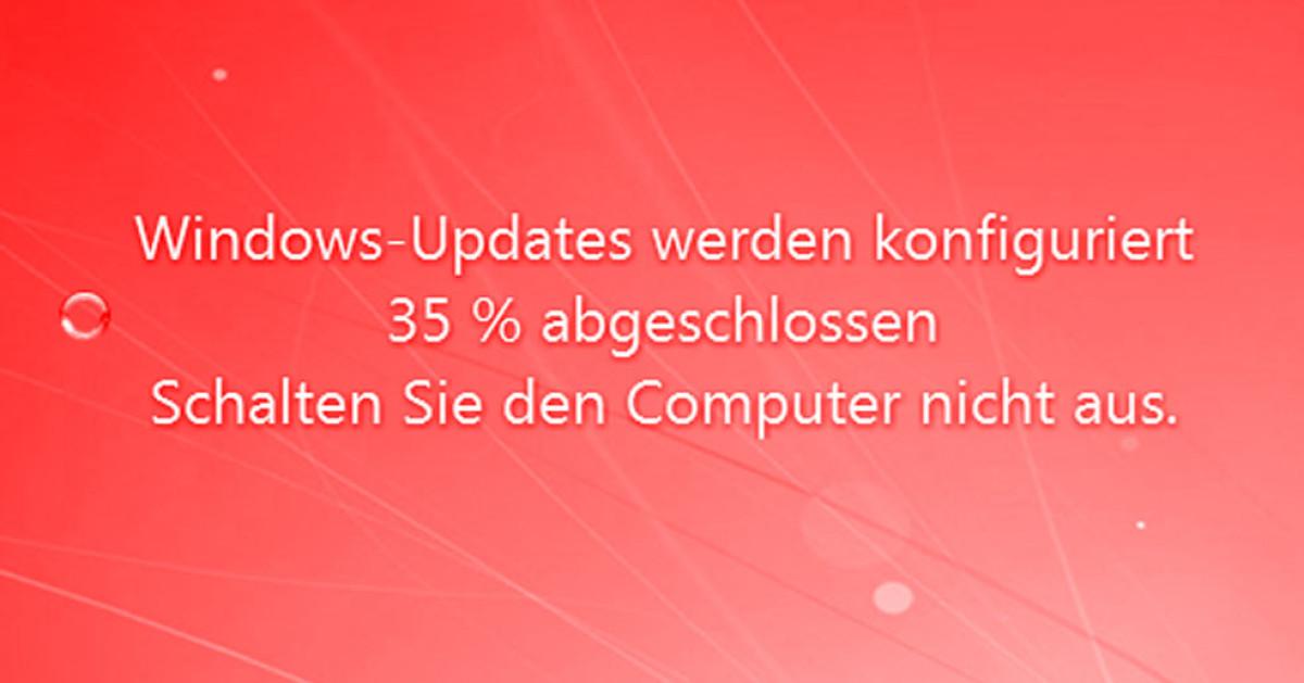 windows update 7 hängt