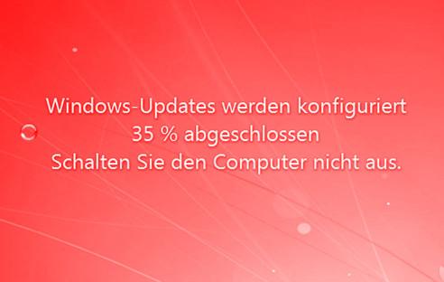 windows 7 update hängt sich auf