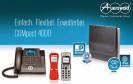 Zur CeBIT beginnt die Vermarktung der neuen Telefonanlage von Auerswald. Die COMpact 4000 wurde speziell für Unternehmen mit bis zu 16 Nutzern entwickelt.