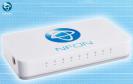 Die Nfon Ncloudbox+ wird an das vorhandene Systemtelefon angeschlossen und mit dem Ethernet im Unternehmen verbunden.