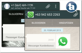 WhatsApp Phishing Kontaktanfrage