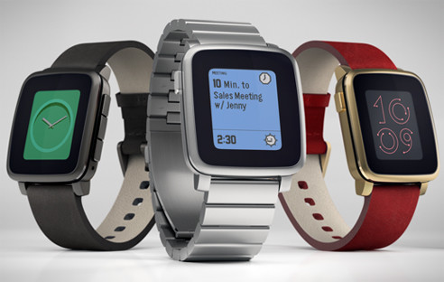 Pebble Time Steel mit Metall-Gehäuse