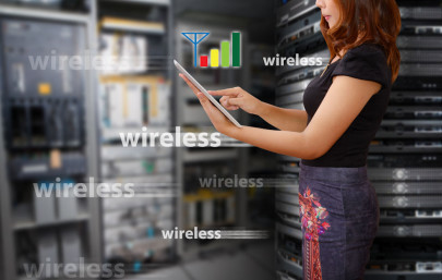 Server-Raum und WIreless-LAN Signale