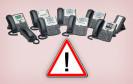 Cisco Telefone mit Warnung