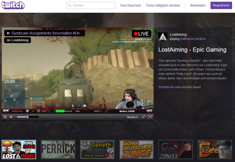 how to start live streaming on twitch tv