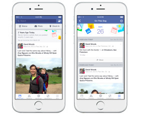 "Facebook ""An diesem Tag / On this Day"" auf dem iPhone"
