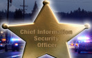 Sheriff-Stern mit Aufschrift Chief Information Security Officer