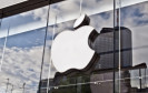 Apple Logo auf Häuserwand