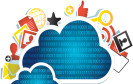 Cloud-Wolke mit Symbolen
