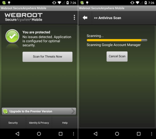 Webroot Security Free