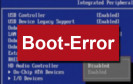 Boot-Error im BIOS