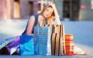 Frau auf Shoppingtour