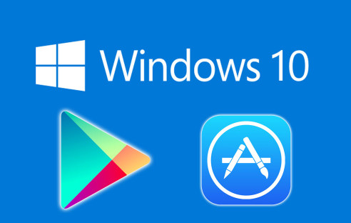 Windows 10 mit Google Play und Apple App Store