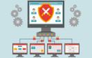 PC-Netzwerk mit Schutzschild