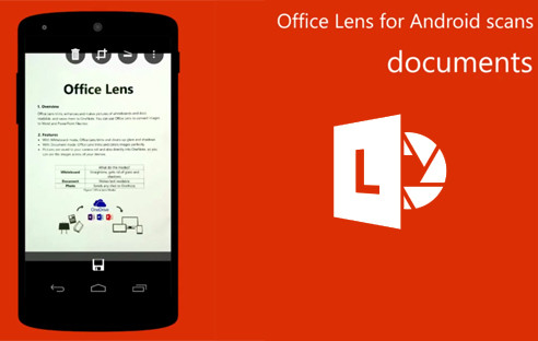 Smartphone mit Microsoft Office Lens