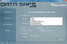 Data Safe zum Datensichern