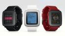 Pebble Time in den Farben Schwarz, Rot und Weiß