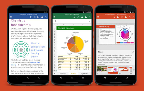 Android-Smartphones mit Microsoft Office