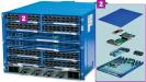 Wedge-Einschübe: Herzstück des 6-Packs sind Rack-Switches mit dem Projektnamen Wedge. Ein 6-Pack fasst bis zu 12 dieser Einschübe. Jeder Wegde hat 16 Ethernet-Ports mit jeweils 40 GBit/s. Der Datendurchsatz eines Wedge liegt bei 1,28 TBit/s.