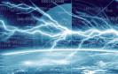 Daten und Strom im Gewitter