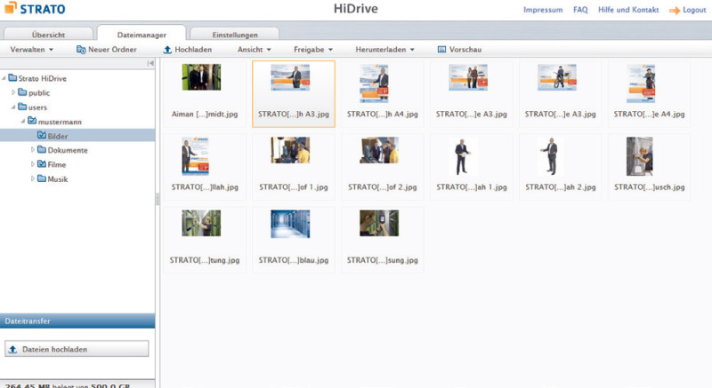 Strato Hidrive Pro Cloud Speicher Im Test Com Professional
