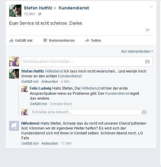 Facebook Kundendienst