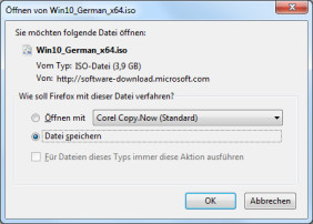Windows 10 als ISO downloaden