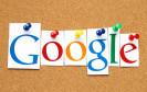 Google Logo auf Pinwand