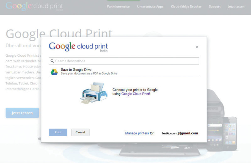 Alles in der Cloud: Nach Google Docs und Google Drive kommt nun Google Cloud Print.