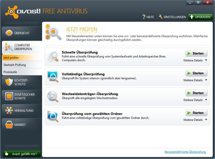 avast antivirus entfernen