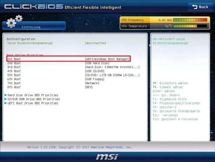 Windows 7 auf UEFI-PC installieren - com! professional