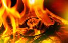 Festplatte und Feuer