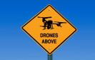 "Warnschild ""Drones above"""