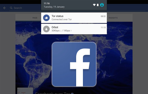 Facebook mit Tor unter Android