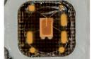 Makroaufnahme der aktiven Seite eines Smartcard-Chips.
