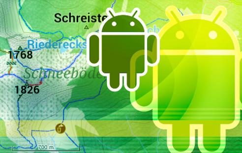 Kostenlose Rad  und Wanderkarten für Android   com! professional