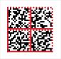 Datamatrix-Codes: Datamatrix-Codes sind meist aus vier Quadraten aufgebaut. Die linke und untere Seite jedes Quadrats ist eine durchgezogene Linie. Gegenüber findet sich eine gepunktete Linie. Große Firmen nutzen den Service Stampit der Deutschen Post und